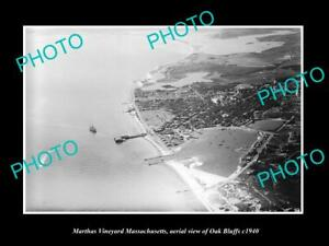OLD-HISTORIC-PHOTO-OF-MARTHAS-VINEYARD-MASSACHUSETTS-VIEW-OF-OAK-BLUFFS-c1940-2