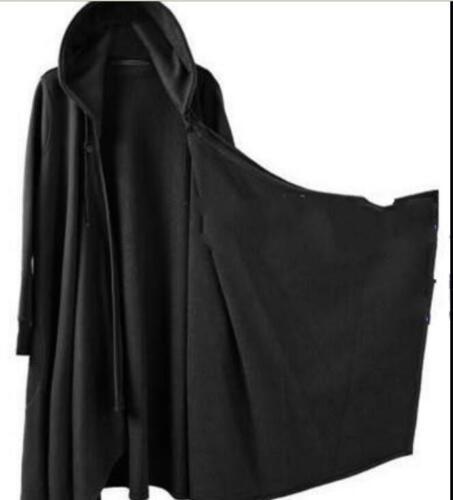 Homme Gothic Long manteau cape Punk Manteau Lâche Loisirs Veste noire trench outwear