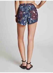 Guess-1981-High-Rise-Americana-Star-Print-Shorts-In-Neo-Funk-Wash-Size-29