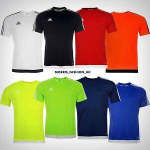 82f78d4bdc9d adidas Kids 3 Stripe Estro T Shirt Junior Boys Short Sleeved Tee Top ...