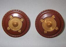 27211 Escudo clípeo marrón centro dorado 2u playmobil,shield,arab,árabe
