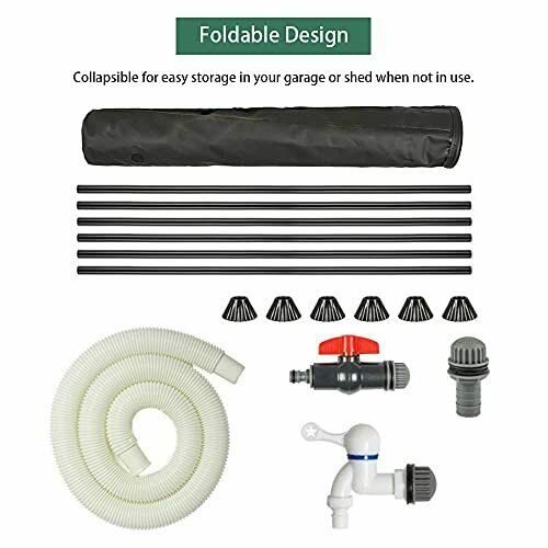 RIOBOW Collapsible Rain Barrels with Water Innet Filter Foldable Raintrap Div...