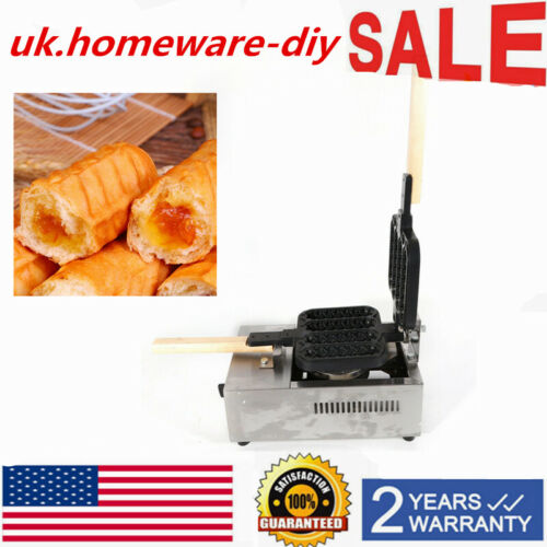 2800pa Commercial  Waffle Dog Lolly Stick Maker Baker Machine Non-Stick LPG Gas
