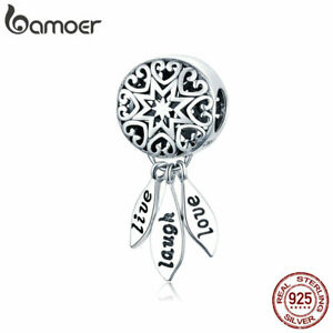 BAMOER-Genuine-S925-Sterling-silver-Charm-The-life-amp-CZ-Fit-Bracelet-Women-Jewelry
