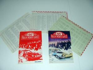 Orig. programmes & Sportive Monte Carlo Rally 1978 LANCIA STRATOS HF MUNARI RAR