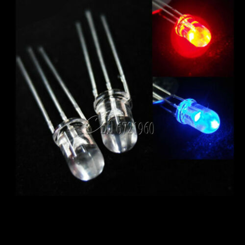 5mm Dual Bi-Color Red//Green 3-Pin Diffused Common Cathode//Anode LED Diode Lamp