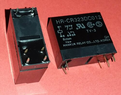 1x org Hankuk HR CR323 DC 12V Print Relais 12V DC 2 Wechsler Qualität