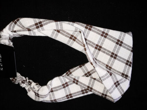 hair band in kylie band style  brown and cream checked design new