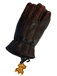 Fashion-Winter-Driving-Dress-Gloves-Thinsulate-Lined-Black-Leather-Bicycle