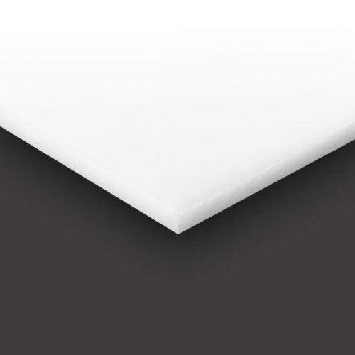 "High Density Polyethylene Plastic Sheet 3//16"" 0.187/"" x 12/"" x 18/"" White HDPE"