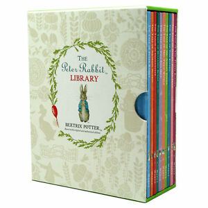 Beatrix-Potter-Peter-Rabbit-Library-Coloured-Jackets-10-Books-Box-Set-Collection