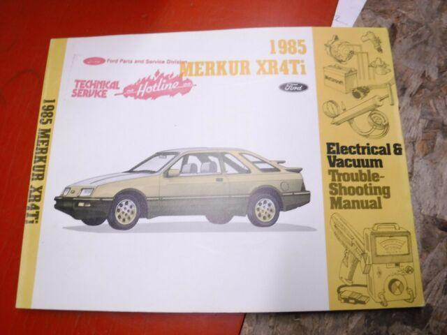 1985 Merkur Xr4ti Electrical Vacuum Troubleshooting Manual Service Wiring