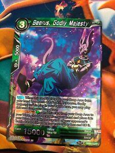 Carte Dragon Ball Super BEERUS MAGNIFICENCE DIVINE BT8-053 R DBZ FR NEUF
