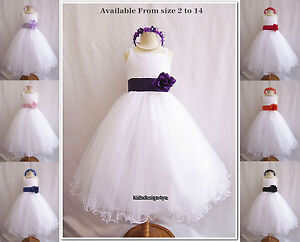 New-Flower-Girl-Dress-Party-Bridesmaid-Pageant-size-0-1-2-4-6-8-10-12-14