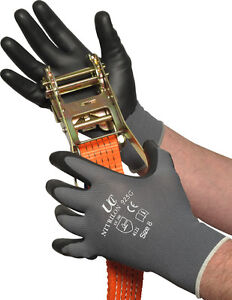 2-Pairs-UCI-Nitrilon-925G-Nitrile-Foam-Coated-Work-Gloves-Black-amp-Grey