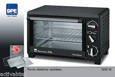 Forno Elettrico Bencotto 22 LT ventilato termostato timer leccarda vassoio DPE