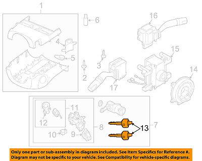 MAZDA OEM 07-15 CX-9 Steering Column-Key G2YA762GXB