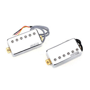 Wilkinson-Chrome-Vintage-Tone-Alnico-5-PAF-Humbucker-Pickup-For-Les-Paul-Guitar