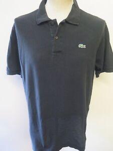 Genuine-Vintage-Lacoste-men-039-s-Black-Polo-Shirt-Size-L-42-44-034-Euro-52-54