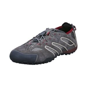 Details about Geox Respira Uomo Snake J Mens Sneakers U4207J Fast Lacing Dk Grey Ruby show original title