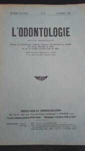 Revista L Odontología Vol. Lxxii Noviembre 1934 N º 11 ABE