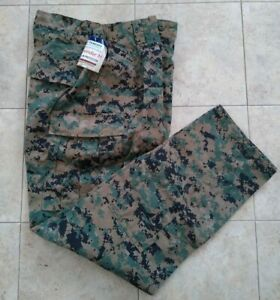 New-USMC-Woodland-MARPAT-FROG-Combat-Ensemble-Pants-Trouser-Size-Large-Long