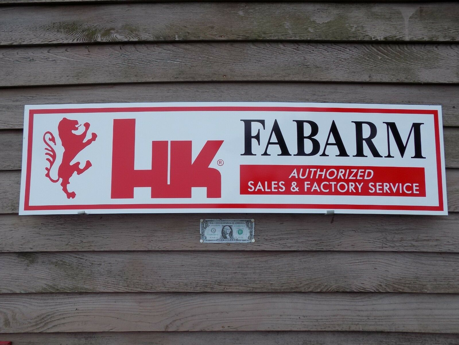 H/K FABARM FIREARMS DEALER 3 COLOR SIGN/AD SIGN/AD SIGN/AD 1'X46