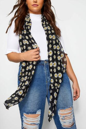 Yours Clothing Womens Plus Size Lightweight Daisy Scarf