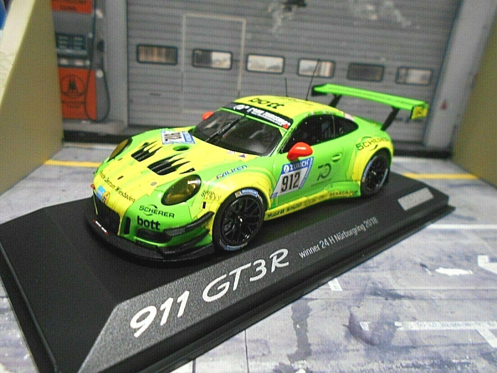 PORSCHE 911 991 GT3 R R R 24h Nürburgring 2018 Winner Manthey Grello Minichamps 1 43 6d73c8