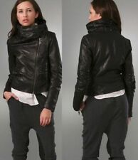 Gwen Stefani LAMB Moto Leather Jacket   Funnel studded collar   womens - sz 8