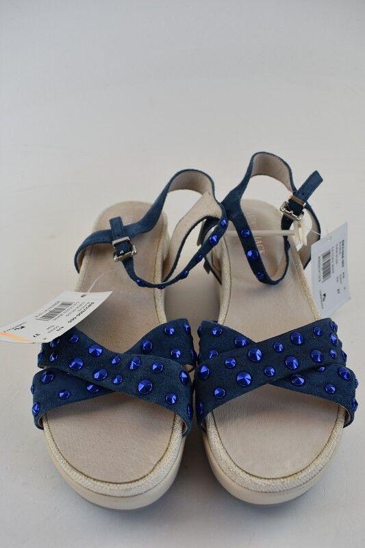 Lumberjack señora sandalias de gamuza Jena azul en la talla 37