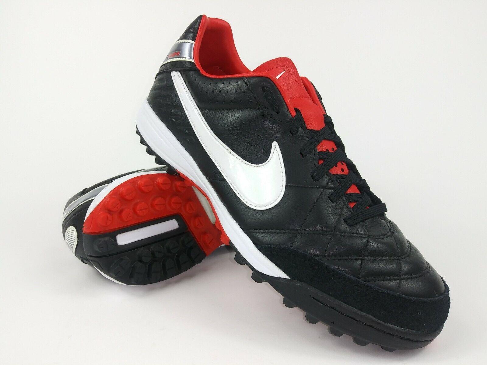 Nike Hombre Raro Tiempo Mystic IV Roscada Horquilla 454314-010 Negro Rojo botines botas talla 7.5