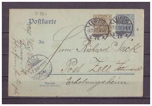 Empire-Allemand-Entier-Postal-P-70-Leipzig-apres-Cellule-Odenwald-02-02-1907