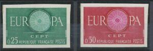 1960-France-N-1266-1267-Europa-Non-denteles-Neufs-luxe-COTE-140-D1481