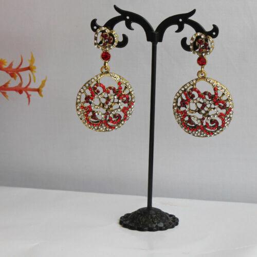New Style Indian Pakistani Bollywood Gold Jhumki Jhumkas Dangle Earrings Bali UK