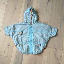 Catimini Baby Mini Blue & Orange Hooded Lightweight Rain Jacket 6M