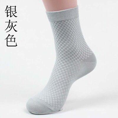 Men Bamboo Fiber Socks Business Anti-Bacterial Deodorant Breathable Sock /bw