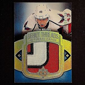 TOM-WILSON-RC-2013-14-Debut-Threads-Patches-UDTTW-Rookie-3-colors-RARE-059-100