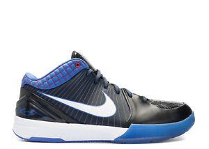 hot sale online 3e7ec 68b34 Image is loading Nike-Zoom-KOBE-IV-4-BLACK-WHITE-RED-