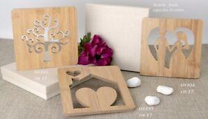 Bomboniere Matrimonio In Legno : Bomboniere matrimonio sottopentola coppia sposi cuore legno box