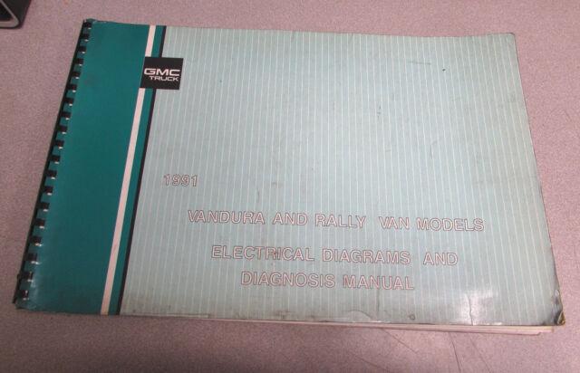 1991 Gmc Rally Vandura Electrical Wiring Diagram Diagnosis Manual