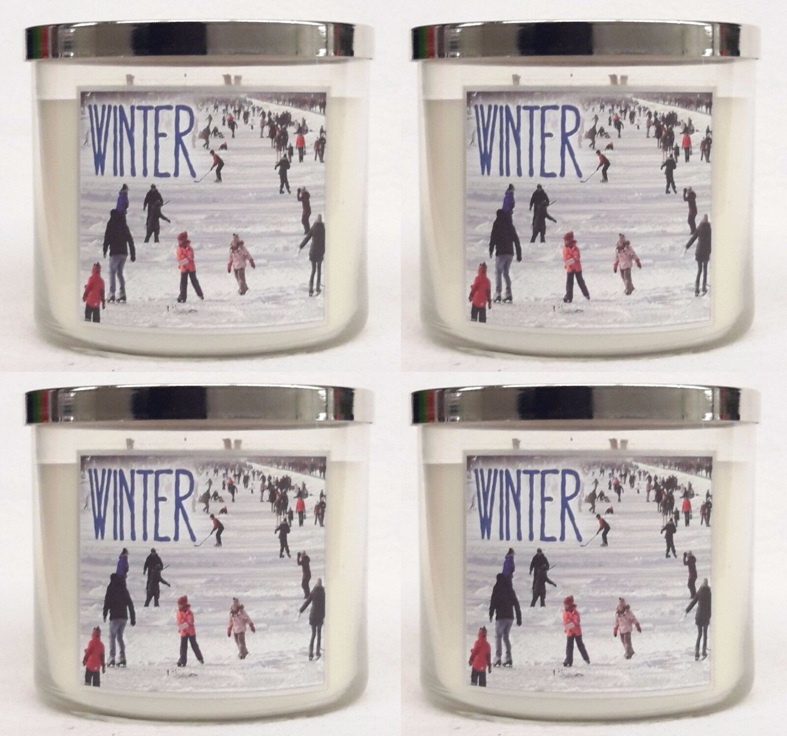 4 Bath & Body Works Winter 3-Wick Filled Candle 14.5