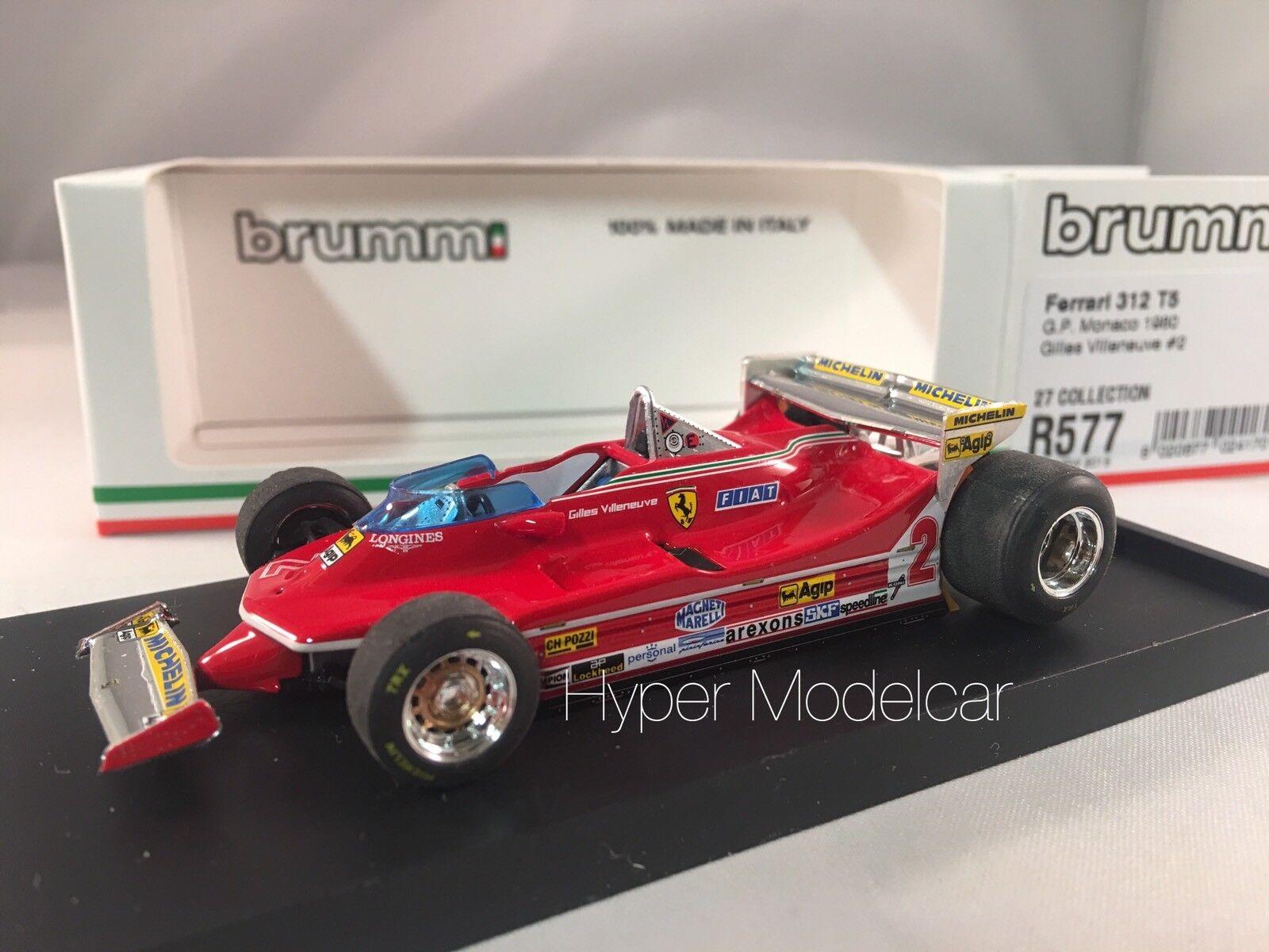 compras en linea BRUMM 1 43 Ferrari 312 T5    2 Gp Monaco 1980  G. Villeneve Art. R577  barato y de moda