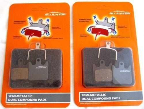 Hope Tech X2 plaquettes de frein x4 Paires Premium Double Composé semi Metallic Alligator