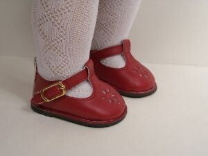 RED Faux Suede w//BUTTERFLY EZ Close Doll Shoes For Bitty Baby Girl Debs
