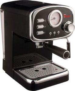 Macchina-per-caffe-espresso-e-Cappuccino-Retro-con-3-FILTRI-polvere-e-cialda-ESE