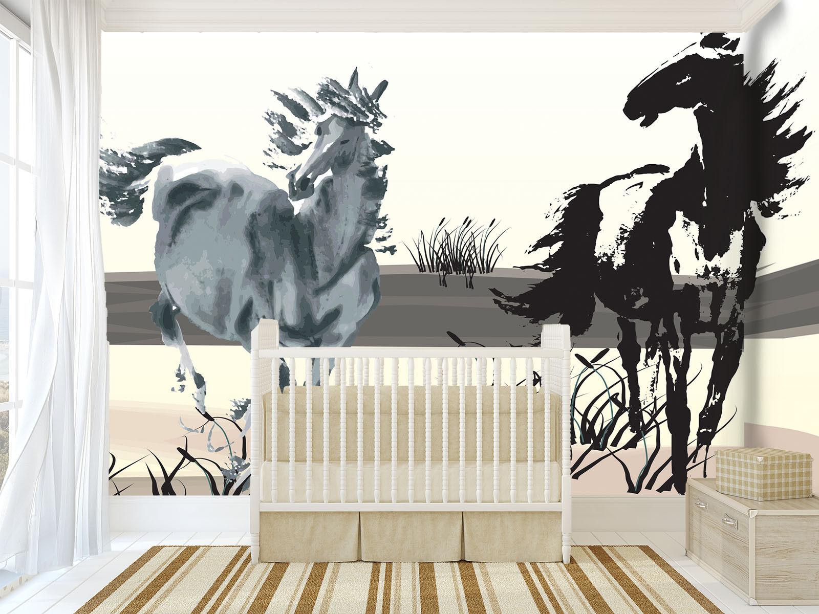 Papel Pintado Mural De Vellón Land Corriendo Caballo 2 Paisaje Fondo Pantalla ES