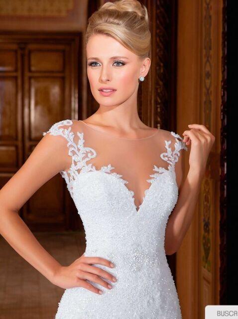 New White/Ivory Bridal Gown Wedding Dress Custom Size 6 8 10 12 14 16 18++