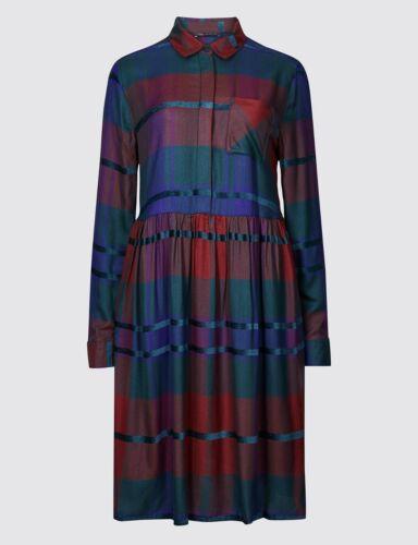 M/&S Checked Drop Waist Dress Sizes 8//10//14//24
