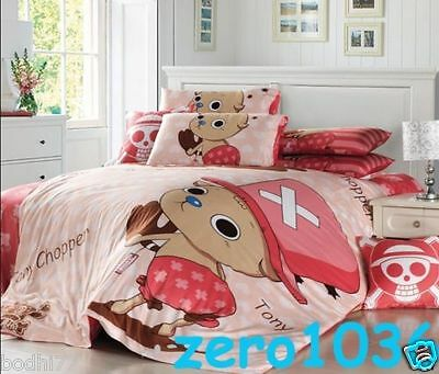 """Anime One Piece Chopper Cosplay Bed """"Quilt/Doona/Duvet"""" Cover Bedding Set EBD161"""